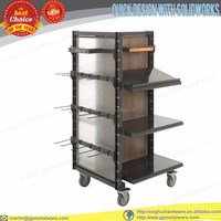 retail shoe store display fixtures in casters