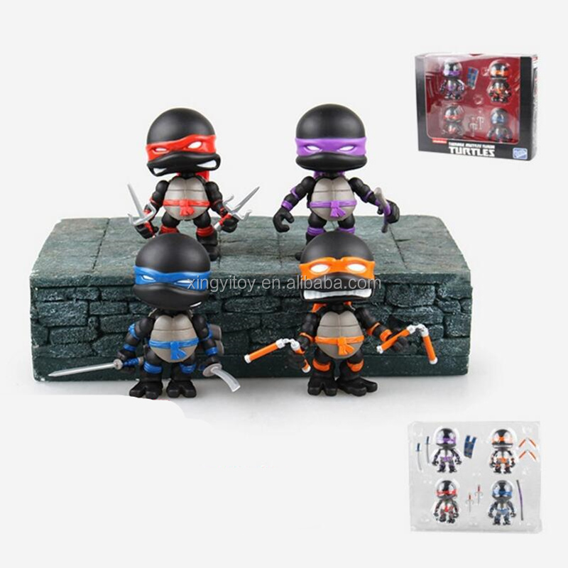 Teenage Mutant Ninja Turtles nickelodeon the loyal subjects los angeles black 8cm cute toy action figure