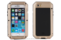 Shockproof Waterproof Powerful protect Aluminum Gorilla Glass Metal case cover for iphone 6 plus 5.5inch