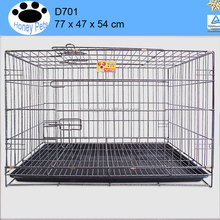 Folding Wire Dog Crate Two Door Collapsible dog flight cage