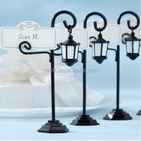 2014 Hot sale wedding favors Vintage Street Lampplace place card holder ornament