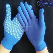 PPE Polyester Knitted Gloves with Pvc dots