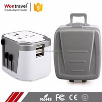 Universal Smart Multi Charger AC DC Adapter USB EU AUS UK US Plug and Socket Travel Adaptor