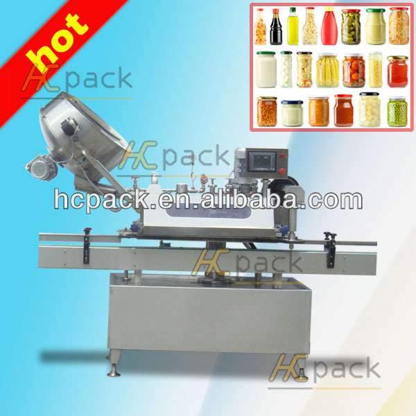 Automatic cap screwing machine