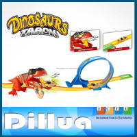 Pull Back Car with Dinosaur Track Set