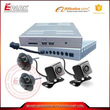 Seamless bird view 360 degree security car camera system