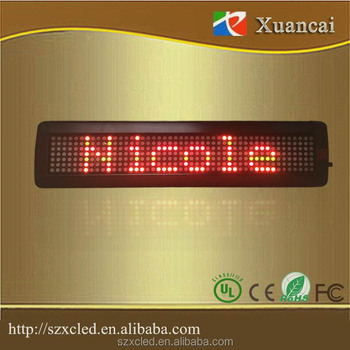 scrolling led message display 40x9.7x 3.4cm electrical sign