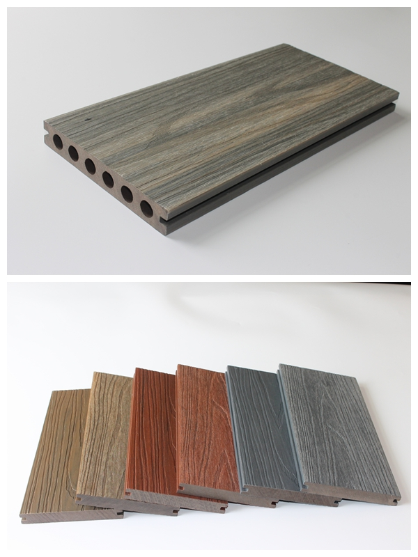 2015 best material used wpc decking wood plastic composite for Plastic decking material