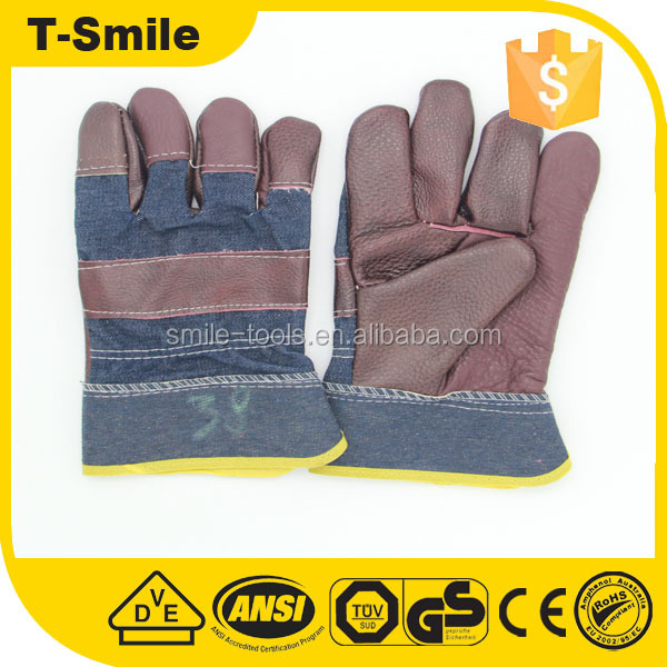 Leather working cloth auto industry wear-resistant cheapest labor leather work glove