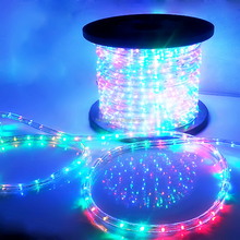 120V,220-240V Chirstams 100m decoration 60ft UL Remote control Red White Blue Green Chasing 10mm led rope light
