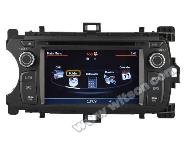 WITSON TOYOTA YARIS 2012 DASH BOARD CAR DVD WITH 1.6GHZ FREQUENCY DVR SUPPORT WIFI APE MUSIC RAM 8GB FLASH