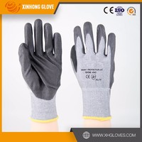 "10"" large size multi purpose cotton liner finish pvc coated gloves"