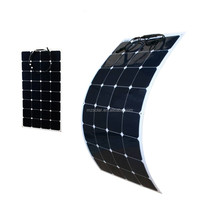 Portable semi flexible solar panel for camping