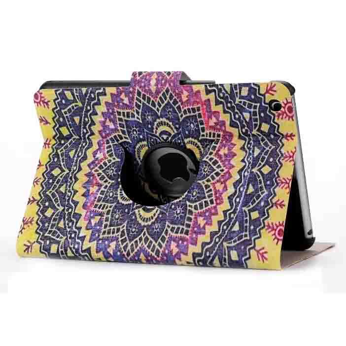 360 degree rotation Fany printing custom rotating case for ipad mini