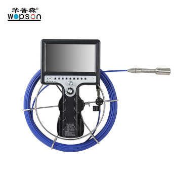 Fiberglass Cable 360 Degree Panning Underwater 50m Sewer Pipe Inspection Video Camera