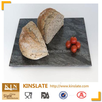 Good price natural stone dinner plates 30*30 square slate plate for your selection & Good price natural stone dinner plates 30*30 square slate plate for ...