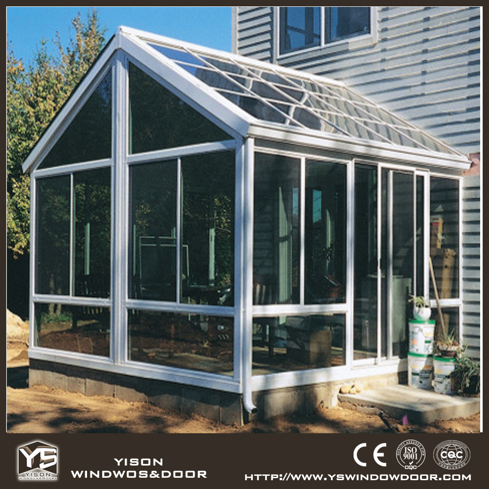 Fashionable design customized size security glass aluminum sunroom
