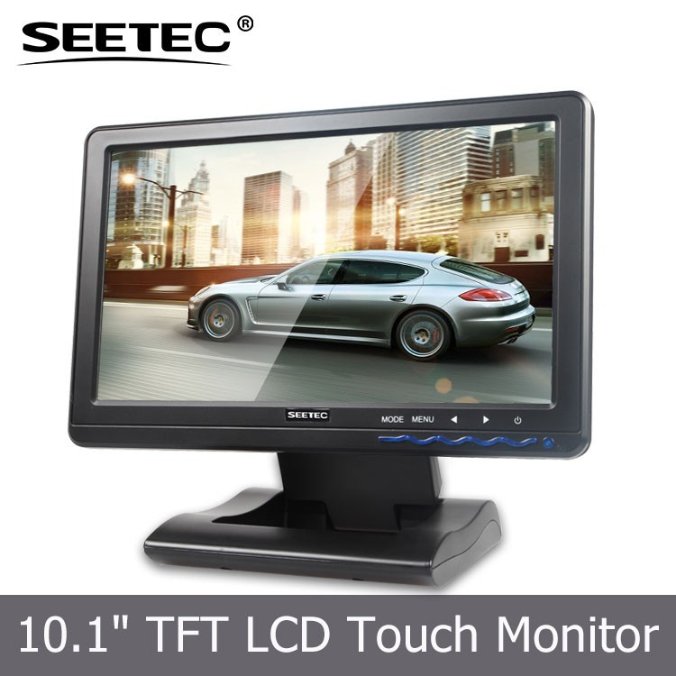 New Energy Saving 10.1'' Portable VGA HDMI touch screen monitor high contrast bus entertainment system