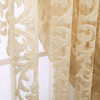 Yutong Modern Style Sheer Window Elegance Curtains Panels For Bedroom Drape Kitchen Treatment