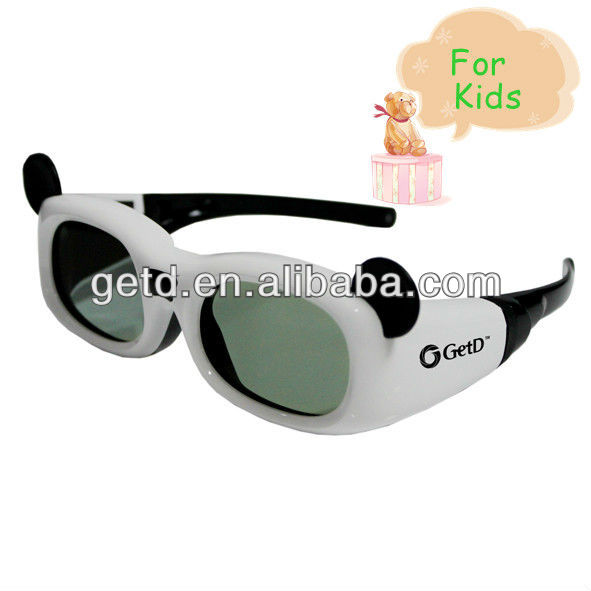 Kids Active 3D glasses LCD lens IR Sync,ABS plastic,Micro USB connector,3D cinema use