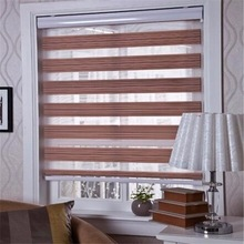 Blackout windows with built in blinds beaded fabric motorized zebra Blind