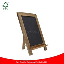 Vintage Rustic Wedding & Kitchen Decor Slate Kitchen Chalkboard Decorative Standing Chalk Board with Shelf