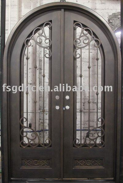 Round Top Good Quality Decorative Metal Door