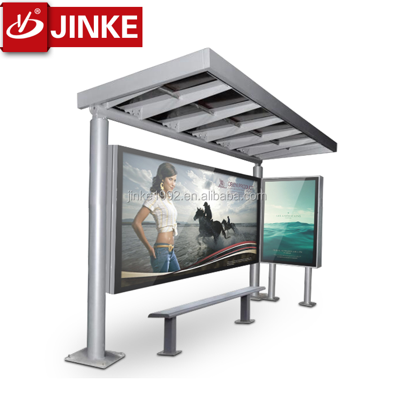 Glass Outdoor Shelter : Jinke outdoor glass bus stop shelter modern design with