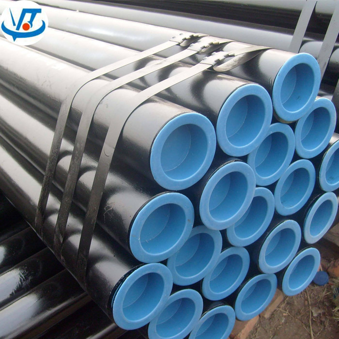 Black Steel Tube Carbon / MS / Alloy ASTM A106 Gr.B Seamless Steel Pipe