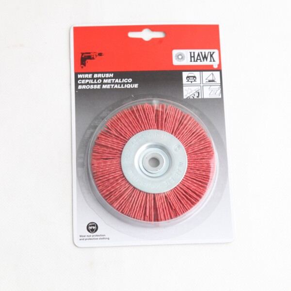 nylon wire wheel brushes packed on display cards, diameter 100mm or 4""
