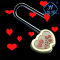 YH1025 Factory wholesale rose heart brass padlock for home dept