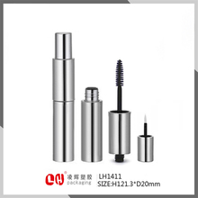 Free samples empty silver plastic Mascara tube and eyeliner tube Dual Cosmetic Packaging container