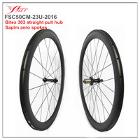 NEW ARRIVAL roue velo carbone 700C bicycle wheelsets 50mm 23mm clincher rims full carbon fiber Toray 700 from China Far sports