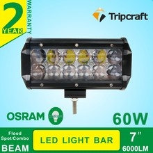 60w Waterproof offroad LED driving light bar 7inch led lighting Heavy Duty Machine