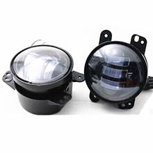 1Pair 4'' LED Fog Light For JEEP Wrangler Unlimited JK Dodge Chrysler CR EE 18W Front Bumper 12V 24V 6500K Car Driving Fog Lamp