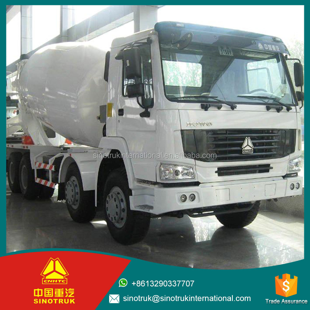 336HP 1 year warranty 371HP HOWO diagram of concrete cement mixer truck / 8*4 concrete mixer truck