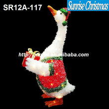 [2012 Hot New!]christmas lighted goose/christmas decorations SR12C-117