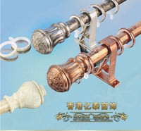 Central Europe series aluminum clad plastic curtain rod