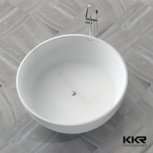 Round Solid Surface freestanding Hip Bath with whirlpool function