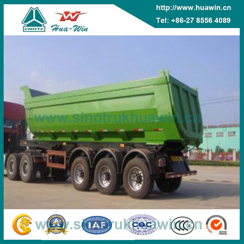 3 Axle 45 Ton U Type Hyva Tipper Semi Trailer for Mining