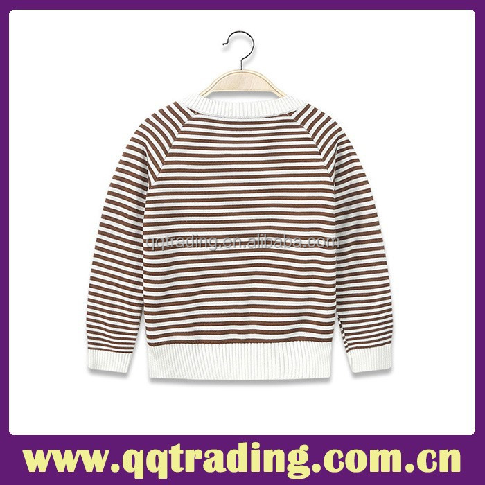 Autumn Popular Style 2015 Kids Casual Long Sleeve Kintting Pullover Sweater Cotton Boy Grid Sweater