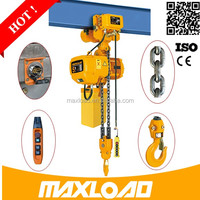 5 Ton DHL Electric Chain Block / Hoist With Monorail Trolley With Low Headroom CE
