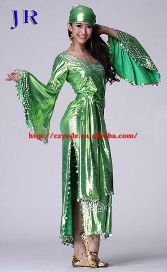 GT-1026 Egyptian long sequins galabeya belly dance costume