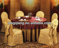International banquet table cloth/wedding banquet decoration/Poly satin fabric