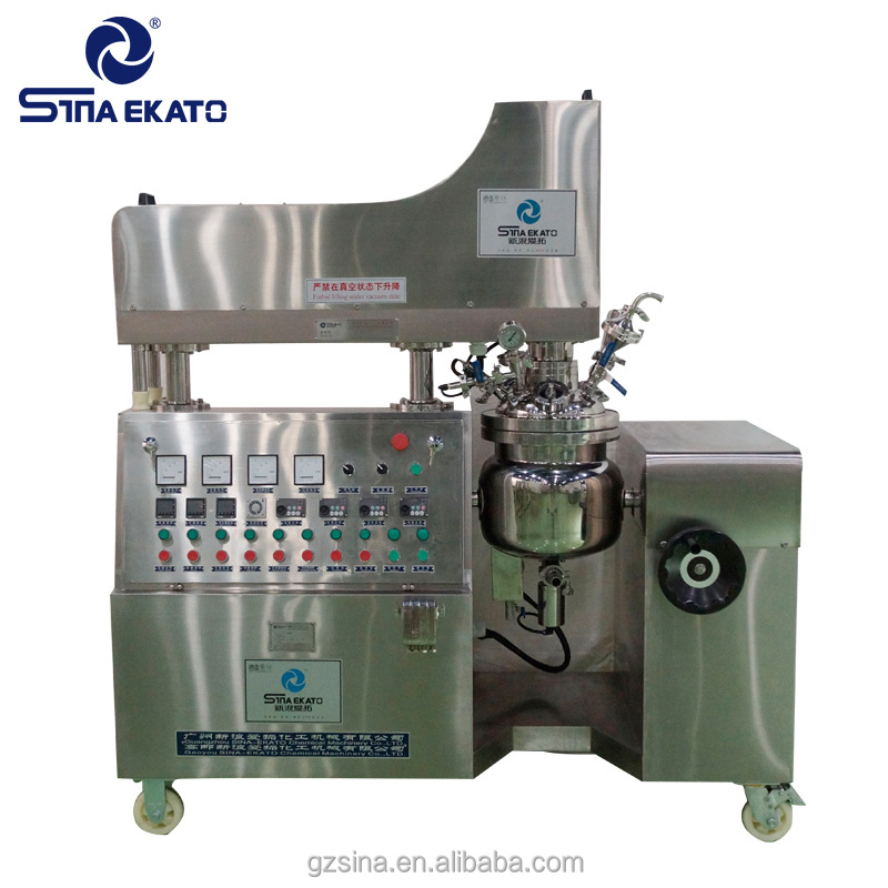 50L face cream body lotion cosmetic ointment vacuum homogenizing emulsifier mixing machine