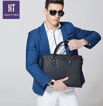 Popular Man Genuine Top Cow Leather Messenger Bags Good Quality Professional Men Business Handbag Briefcases