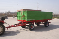 e Euro style tractor use hydraulic 5 Ton~10T,heavy duty farm tipping trailer,farm dump wagon ,rear and side tipping with