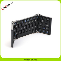 New 3 in 1 Foldable Alloy Bluetooth 3.0 Mini Keyboard For Phone Tablet PC Laptop