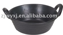 recycled rubber tubs with 2 handles,animal feeder buckets,Rubber trough