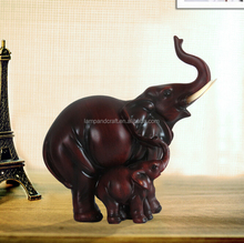 Lucky Indian Elephant Decoration With Red Resin Animal For Home Decor Wholesale Folk Arts And Crafts Supplier